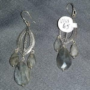 Silpada W2139 feldspar and shell earrings